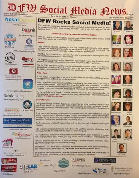 DFW Social Media News 2013