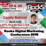 Meet Candy Barone, Rocks Digital Marketing Conference, Dallas 2015
