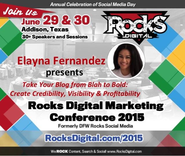 Elayna Fernandez, Blogging Speaker