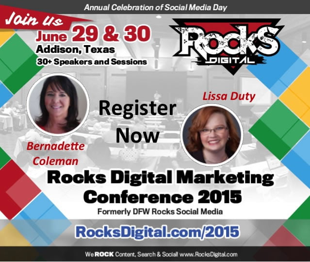 Meet Bernadette Coleman and Lissa Duty, Organizers for the Rocks Digital Marketing Conference 2015