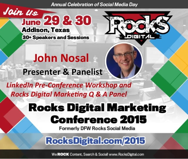 John J. Nosal to Present Pre-Conference LinkedIn Workshop