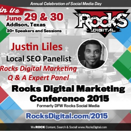 Justin Liles to Participate on Geek Chat and Rocks Digital Marketing Q &A Panel
