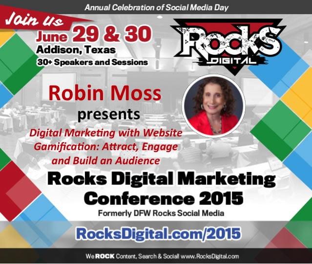 Robin Moss, Speaker on Digital Marketing and Gamification at Rocks Digital Dallas 2015
