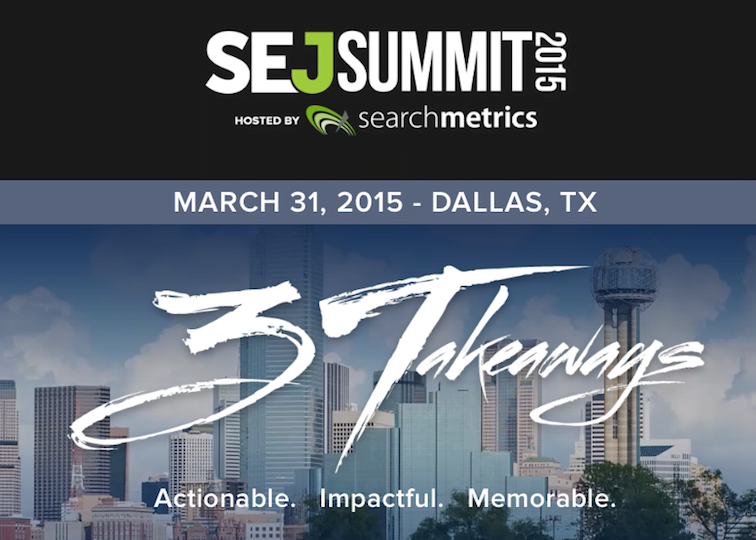 #SEJSummit Dallas Brand Marketing and Content Strategy Session LIVE Blog