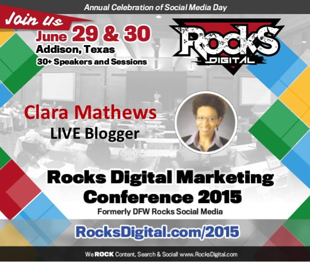 Clara Mathews, Professional Blogger, to Live Blog