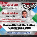 Grant Wickes, Social Media Speaker at Rocks Digital Marketing Conference 2015