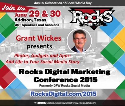 Grant Wickes to Speak on Photos, Gadgets and Apps For Social Media