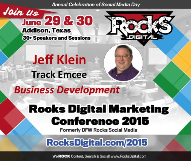 Jeff Klein to Emcee The Business Development Track