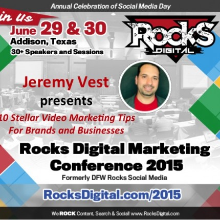 Jeremy Vest to Speak on Video Marketing Tips for Brands and Businesses