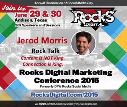 Jerod Morris to Speak on Content and Connection