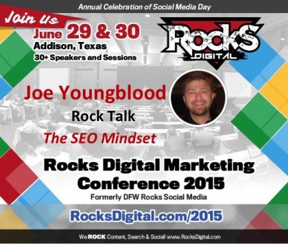 Joe Youngblood, SEO Strategist, to Speak on The SEO Mindset