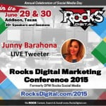 Junny Barahona, Live Tweeter Rocks Digital 2015