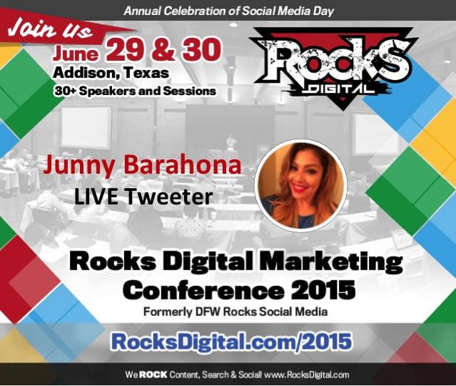 Junny Barahona, Live Tweeter Rocks Digital 2015