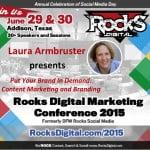 Laura Armbruster, Content Marketing Strategist to Speak at Rocks Digital Marketing Conference 2015