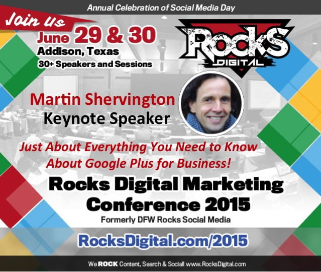 Martin Shervington, Google Plus Expert to Speak at Digital Marketing Conference in Texas