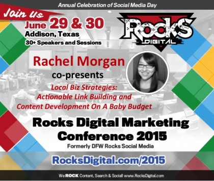 Rachel Morgan To Speak on Local Biz Strategies for Link Building
