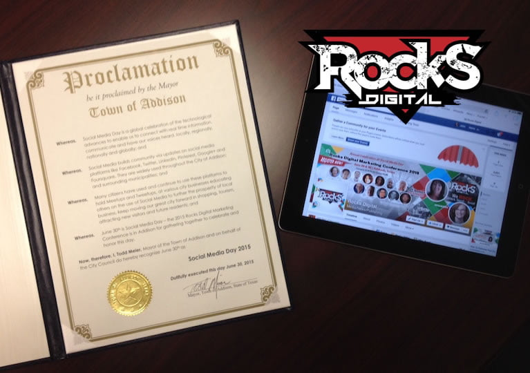 In the news … the Mayor of Addison Declares June 30 Social Media Day