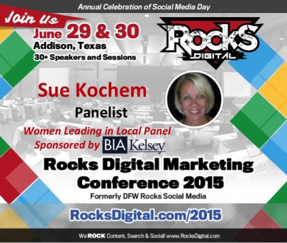 Sue Kochem, Marketing Professional on Women Leading in Local Panel