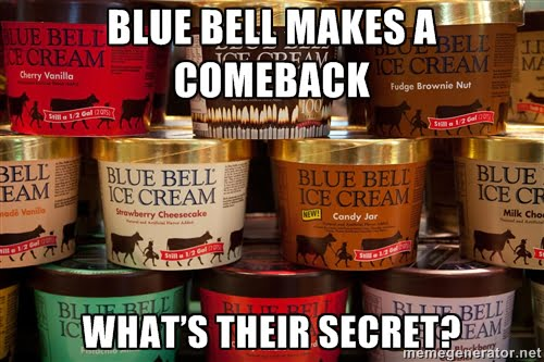Blue Bell Ice Cream Comeback