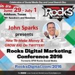 John Sparks, Forbes Influencer to present at Rocks Digital Marketing Conference 2016