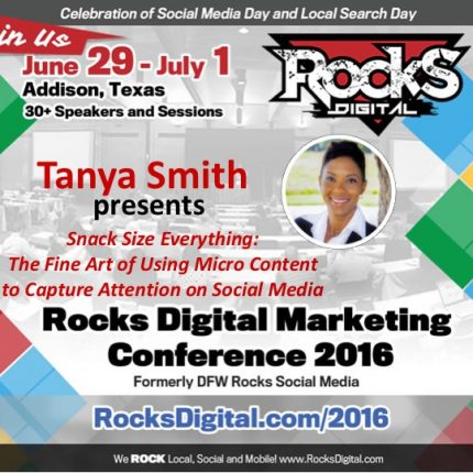 Make Mine Micro… Content That is – Tanya Smith at Rocks Digital 2016