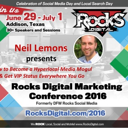 Neil Lemons Serves Up the Secrets to Building a Hyperlocal Media Empire at Rocks Digital 2016!