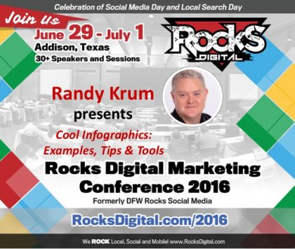 Learn Infographic Design 101 with Randy Krum at Rocks Digital 2016!