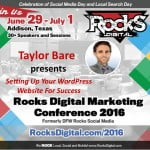 Taylor Bare WordPress Speaker Rocks Digital Marketing Conference 2016