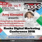 Amy Kinnaird Marketing Hacks at Rocks Digital Marketing Conference Dallas 2016