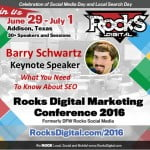 Barry Schwartz, Founder Search Engine Roundtable, Rocks Digital Marketing Conference Dallas