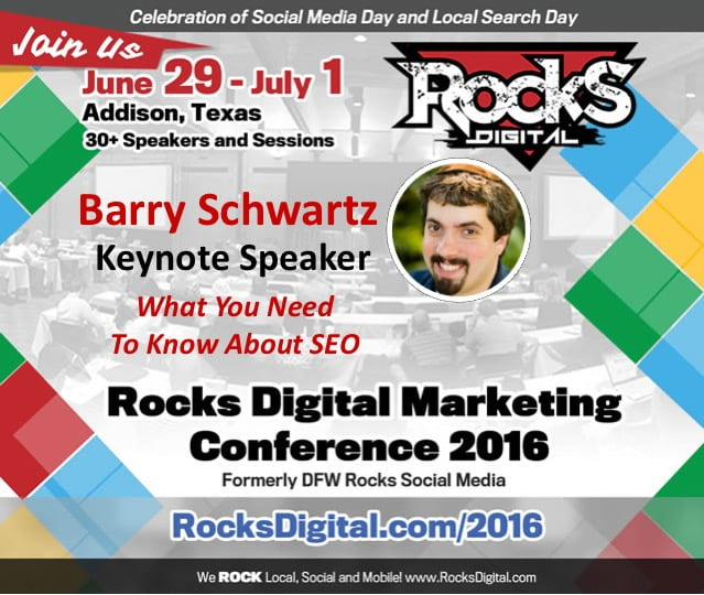 What You Need To Know About SEO by Barry Schwartz – Rocks Digital 2016 Live Blog