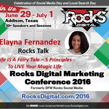 Elayna Fernandez Brings Her Positivity and Magic to Rocks Talks 2016