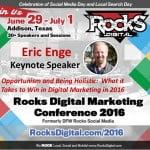 Eric Enge Keynote at Rocks Digital Marketing Conference Dallas 2016