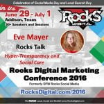 Eve Mayer, Rocks Digital Marketing Conference Dallas 2016