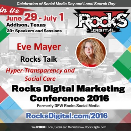 Eve Mayer Talks Transparency and Brand Management at Rocks Digital 2016!