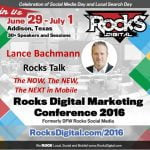 Lance Bachmann, Rocks Digital Marketing Conference 2016