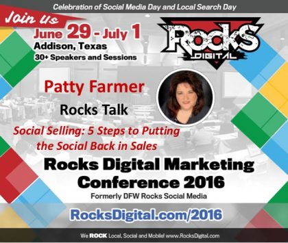 Patty Farmer Brings Social Selling Success to Rocks Talks 2016