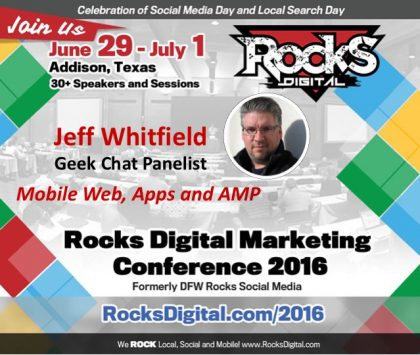 Jeff Whitfield to Participate on Mobile Web Geek Chat Panel