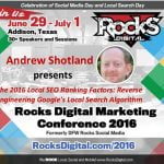 Andrew Shotland, Rocks Digital Marketing Conference Dallas 2016