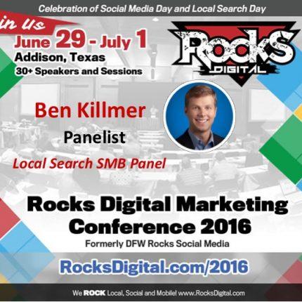 Google's Ben Killmer Joins the Local Search SMB Panel at Rocks Digital