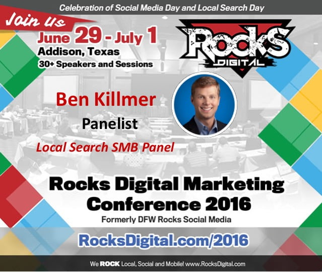 Ben Killmer, Google, Rocks Digital 2016