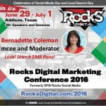 Bernadette Coleman, Rocks Digital 2016