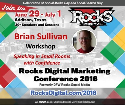 Brian Sullivan Will Teach How to Own Small-Room Presentations During Workshop at Rocks Digital