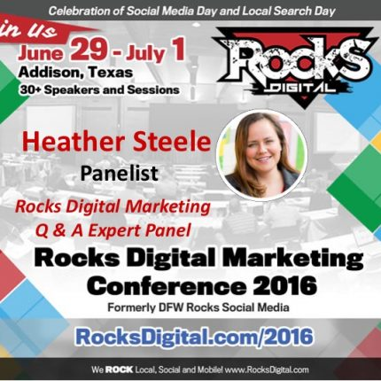 Heather Steele Joins the 2016 Rocks Digital Marketing Q & A Panel