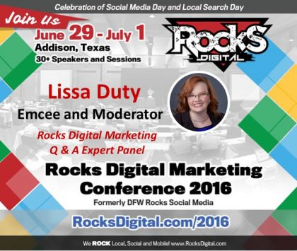 Lissa Duty, Rocks Digital Co-founder to Moderate Digital Marketing Q & A Panel and Lead Pre-Conference Workshop