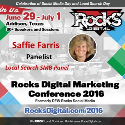 Saffie Farris Brings Love of Hyperlocal to Local Search SMB Panel!