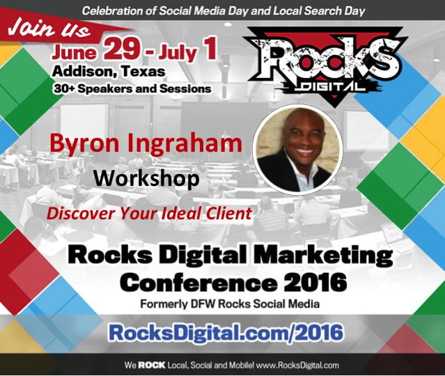 Discover Your Ideal Customer from Rocks Digital 2016 – Live Blog