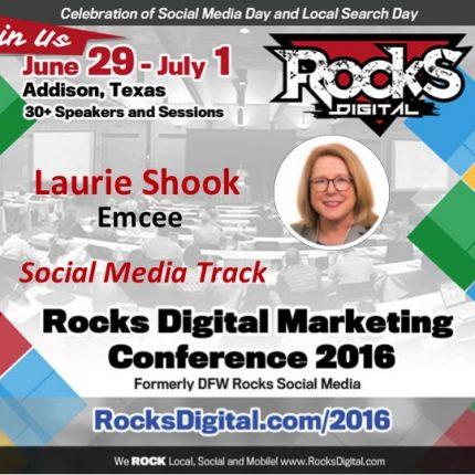 Laurie Shook to Emcee the Social Media Track at Rocks Digital 2016