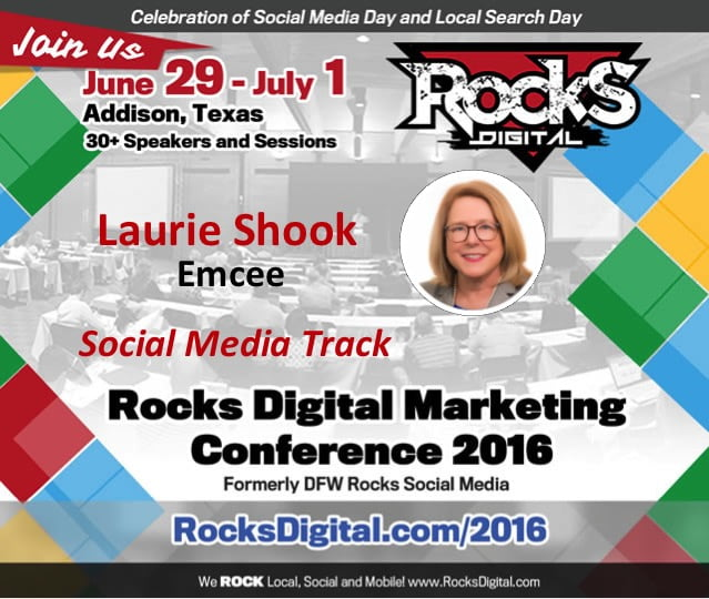 Laurie Shook to Emcee the Social Media Track at Rocks Digital 2016
