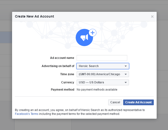 how to know when an ad created in facebook